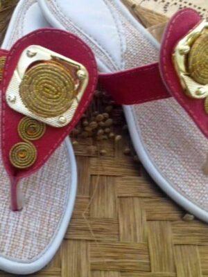 Sandales pour femme en Or Végétal